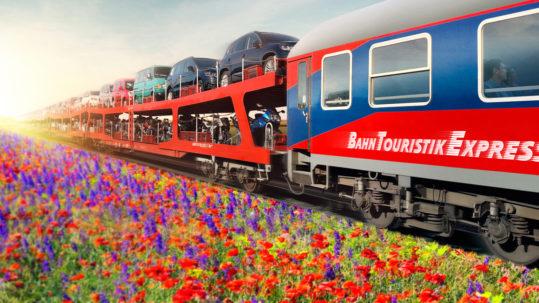 Bahntouristikexpress Autoreisezug goldenebotschaft